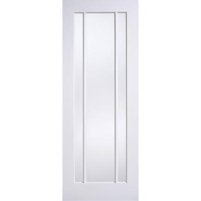 LPD Internal White Primed Lincoln 3L Glazed Door