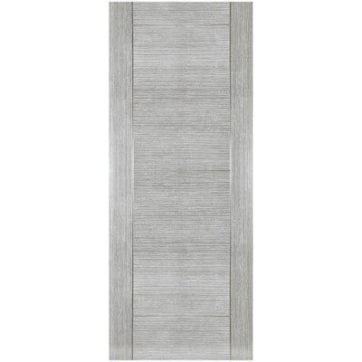 Deanta Internal Light Grey Ash Montreal 6 Panel Prefinished FD30 Fire Door