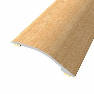 Laminate Stickdown Threshold Adjustable Ramp 3-12mm Light Varnished Oak 2.7m