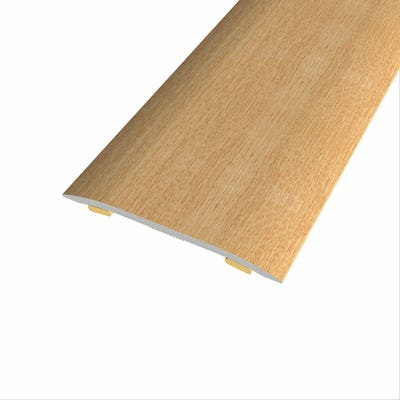 Laminate Stickdown Threshold Coverstrip Light Varnished Oak 0.9m