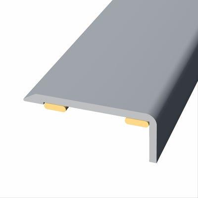 Laminate Stickdown Threshold End Section Silver Aluminium 2.7m