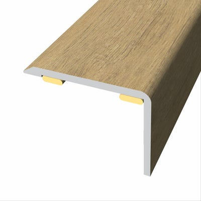 Laminate Stickdown Threshold Stair Nosing Country Oak 2.7m