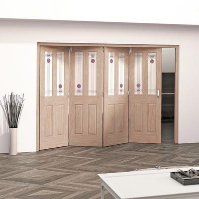 Jeld-Wen Internal Oak Mackintosh 2L 4 Door Roomfold 2047 x 2849 x 92mm