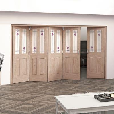Jeld-Wen Internal Oak Mackintosh 2L 5 Door (4+1) Roomfold 2047 x 3538 x 92mm