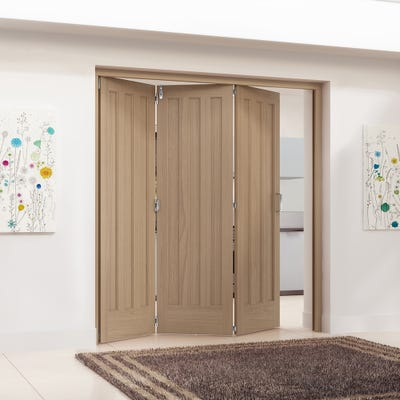 Jeld-Wen Internal Oak Aston 3 Panel 3 Door Roomfold