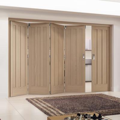Jeld-Wen Internal Oak Aston 3 Panel 5 Door (4+1) Roomfold