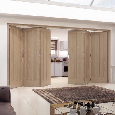 Jeld-Wen Internal Oak Aston 3 Panel 6 Door (3+3) Roomfold
