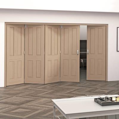 Jeld-Wen Internal Oak Oregon 5 Panel 5 Door (4+1) Roomfold 2047 x 3158 x 92mm