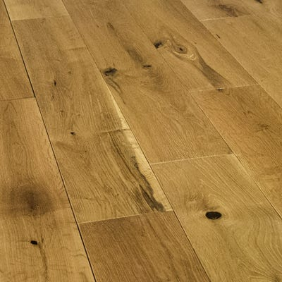 18 x 125mm Brushed and Oiled Oak Solid Wood Flooring