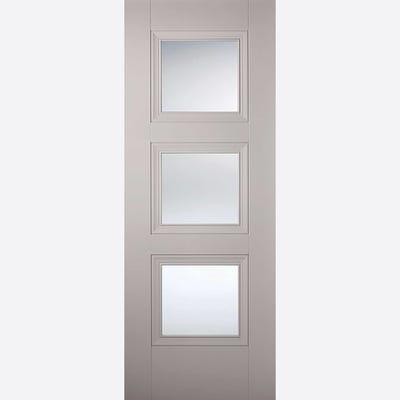 LPD Internal Grey Amsterdam 3L Clear Glazed Door