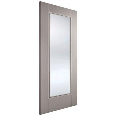 LPD Internal Grey Eindhoven 1L Clear Glazed Door