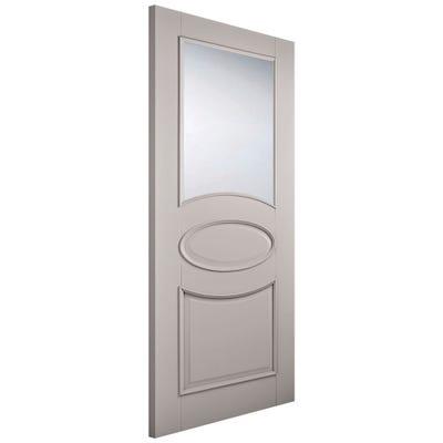 LPD Internal Grey Versailles 1L Clear Glazed Door