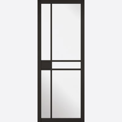 LPD Internal Black Greenwich 5L Clear Glazed Door