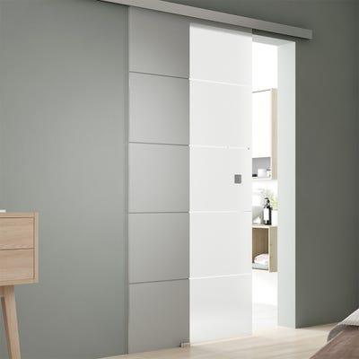 Jeld-Wen Internal Infinity Abstract Sliding Glass Door-Nouveau Track & Pull Handle 2058 x 935 x 8mm