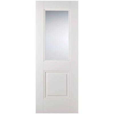 LPD Internal White Primed Arnhem 1L Clear Glazed Door 1981 x 762 x 35mm