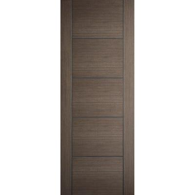 LPD Internal Chocolate Grey Vancouver 5 Panel Prefinished Door