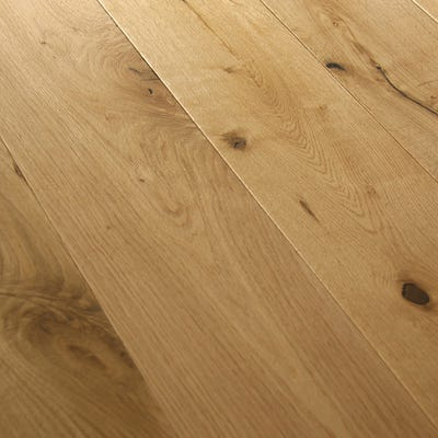 14 x 190mm Country Oak Brushed & Matt Lacquered Click Engineered Wood Flooring