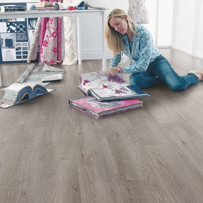 Elka 12mm Stone Grey Oak ELT187 Laminate Flooring