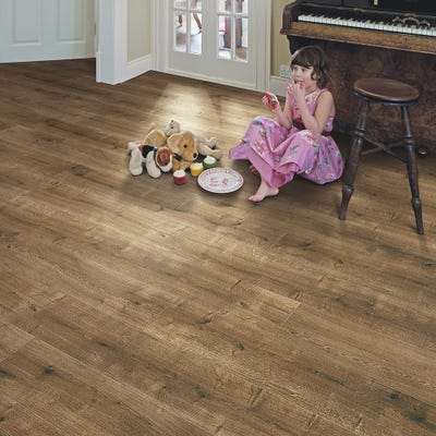 Elka 8mm Smoked Oak ELV225 Laminate Flooring