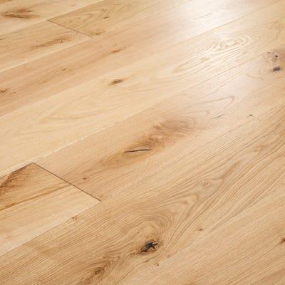 21 x 185mm Oak Brushed & Matt Lacquered T&G Engineered Wood Flooring
