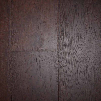 Crown by Kahrs Brown Oak 14 x 190mm Brushed & Matt Lacquered Click Engineered Wood Flooring
