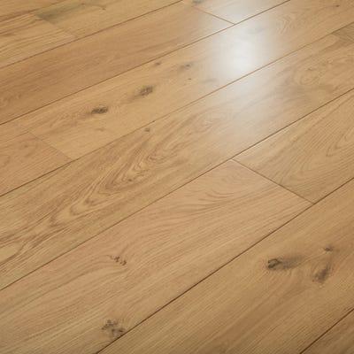 Sample of 15 x 185mm Oak UV Matt Lacquered T&G Engineered Wood Flooring