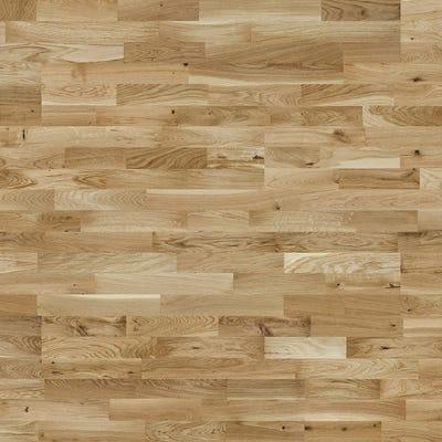 14 x 207mm Lacquered 3 Strip Oak LOC Engineered Wood Flooring