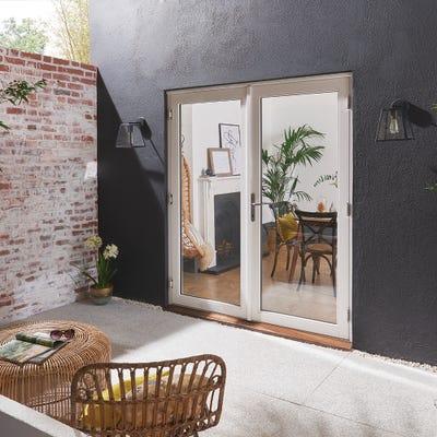 Bedgebury White French Patio Doorset 1.2m