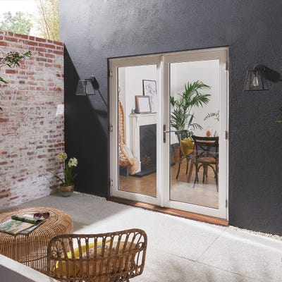 Bedgebury White French Patio Doorset 1.5m
