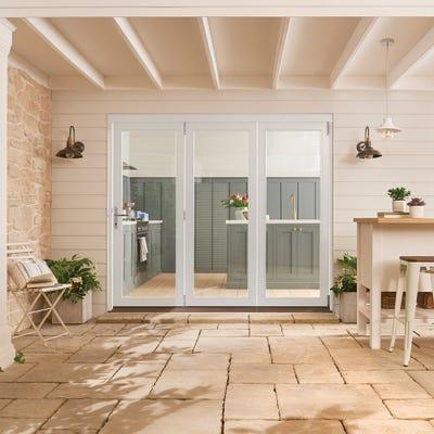 Bedgebury White Folding Patio Doorset 1.8m
