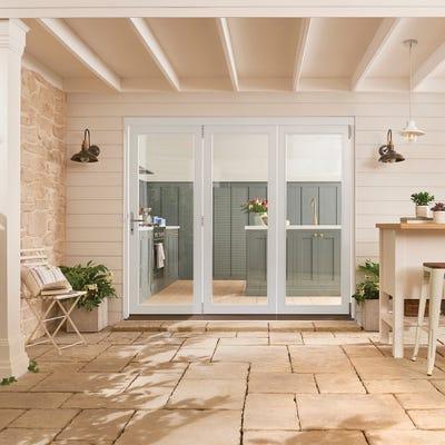 Bedgebury White Folding Patio Doorset 2.4m