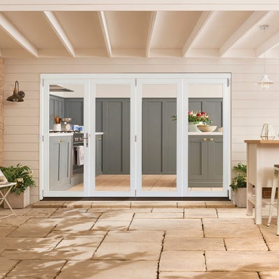 Bedgebury White Folding Patio Doorset 3.0m