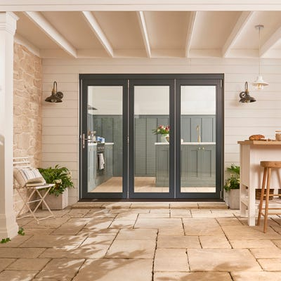 Bedgebury Grey Folding Patio Doorset 1.8m