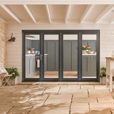 Bedgebury Grey Folding Patio Doorset 3.0m