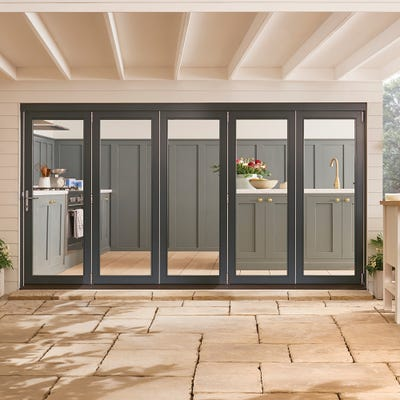 Bedgebury Grey Folding Patio Doorset 3.6m