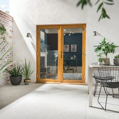 Kinsley Golden Oak French Patio Doorset 1.2m