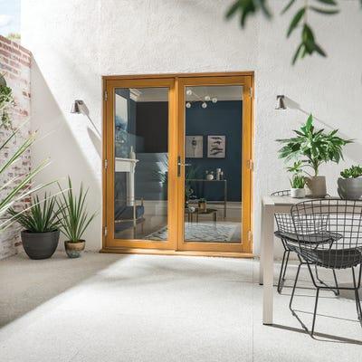 Kinsley Golden Oak French Patio Doorset 1.8m