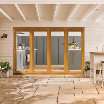 Kinsley Golden Oak Folding Patio Doorset 3.0m
