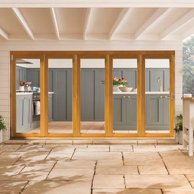 Kinsley Golden Oak Folding Patio Doorset 3.6m