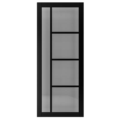 Deanta Internal Brixton Black Prefinished Tinted Glazed Door