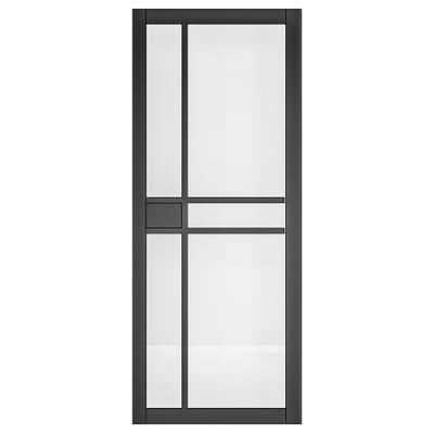 Deanta Internal Dalston Black Prefinished Glazed Door
