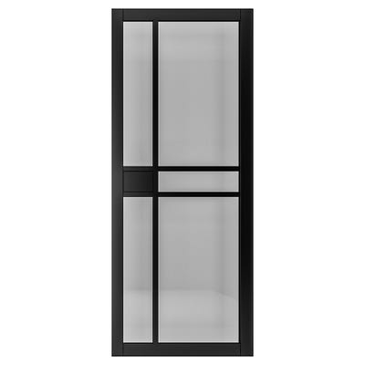 Deanta Internal Dalston Black Prefinished Tinted Glazed Door
