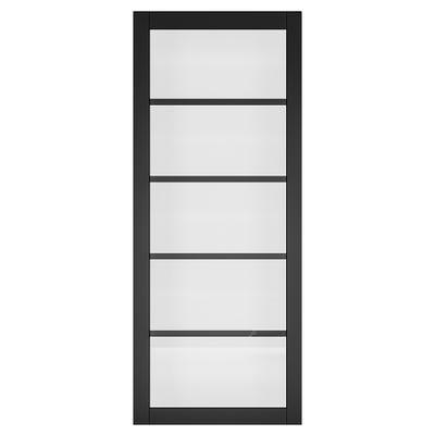 Deanta Internal Shoreditch Black Prefinished Glazed Door