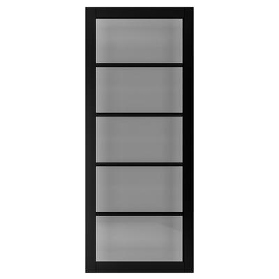 Deanta Internal Shoreditch Black Prefinished Tinted Glazed Door