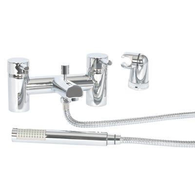 Tay Bath Shower Mixer Chrome with Shower Hose