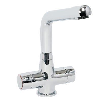 Tweed Cruciform Kitchen Sink Mixer Chrome