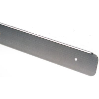 Unika 30mm Silver Aluminium Worktop End Cap 10mm Radius