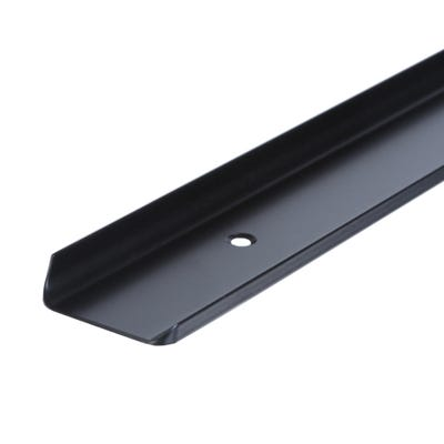 Unika 40mm Black Aluminium Worktop Corner Joint 6mm Radius