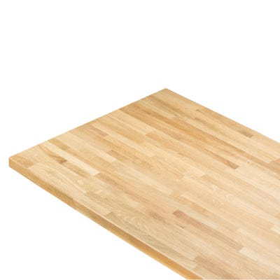 Rustic Oak Unfinished 3000mm x 620mm x 40mm Solid Wood Worktop - 25mm Staves