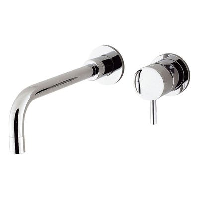 Crosswater Kai Lever Wall Mounted 2 Hole Basin Mixer Set Chrome